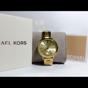 NWT Michael Kors Jaryn Gold Ladies Watch